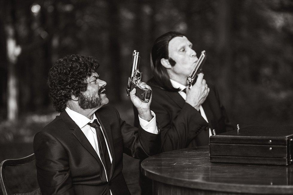 Momentka z natáčení filmu 'Tloskov fičí'.