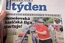Titulní strana dvacátého šestého čísla týdeníku Benešovský týden.