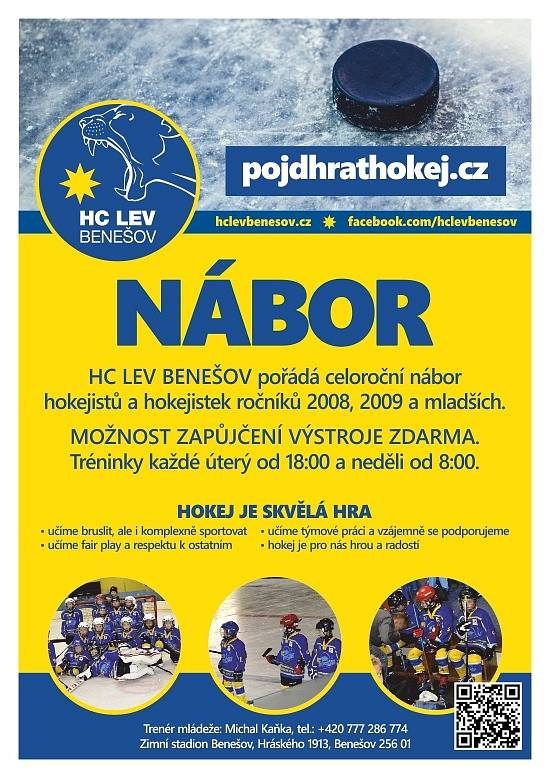 Nábor HC LEV Benešov