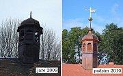 Zámek v Třebešicích u Divišova se stále proměňuje. Nedávný havarijní stav celého areálu není již v tuto chvíli vůbec znát.