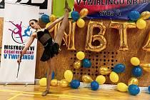 Viktorie Šitlerová na Mistrovství České republiky v twirlingu ve Spořicích u Chomutova.