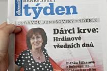 Titulní strana dvacátého čtvrtého čísla týdeníku Benešovský týden.