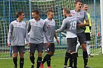 Šestkrát se radovali z gólu fotbalisté Votic, čtyřikrát Marek Štork (uprostřed).