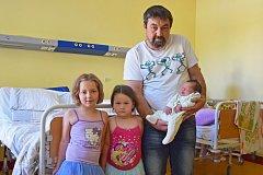 Manželům Markétě a Jaroslavu Sedláčkovým se 27. srpna ve 2.45 narodil syn David. Při narození vážil 4 650 gramů a měřil 53 centimetrů. Se svou sestřičkou Karolínkou (4) bude bydlet ve Veliši.