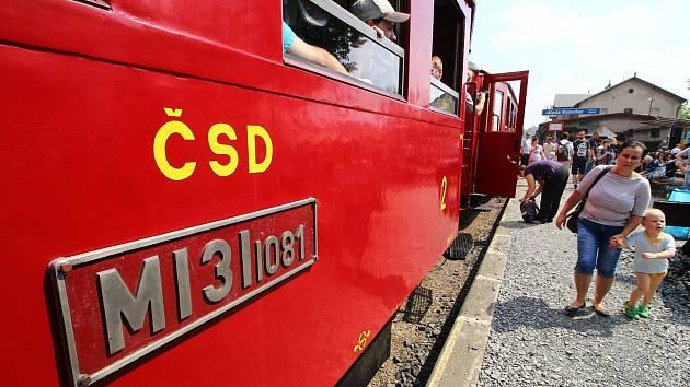 Kralupy železnice železniční vlak Hurvínek