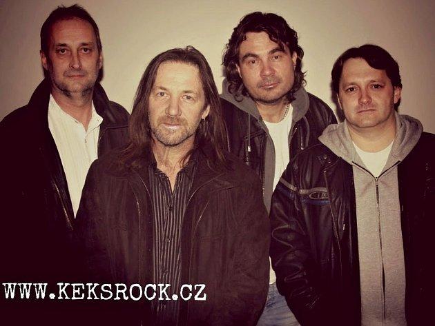 Rocková kapela Keks. Zleva: Petr Dudík, Štěpán Kojan, Václav Suchý, Václav Šobíšek.