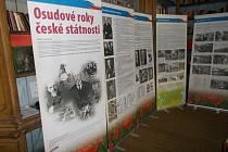 Snímek z minulé zastávky výstavy Osudové roky české státnosti.