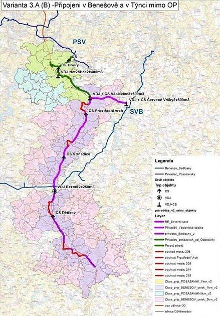 Dostatek vody má zajistit nové potrubí podél budoucí dálnice D3