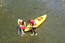V Sázavě je pro vodáky v některých úsecích kritický nedostatek vody.