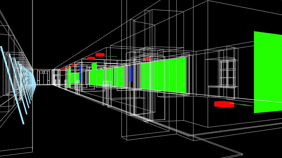 Výstavní program na rok 2018 i doprovodní programy pro letošní rok představila ve čtvrtek Galerie Středočeského kraje v Kutné Hoře – GASK. Na snímku Daniel Hanzlík, Pavel Mrkus vizualizace projektu Vidět čas.