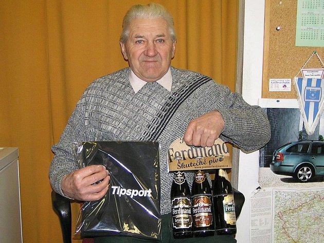 František Hájek z Jeníkova kraloval ve 4. kole Zimní Tipsport ligy BND a získal ručník od sázkové kanceláře Tipsport a pivo od pivovaru Ferdinand Benešov.