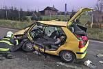 Dopravní nehoda na silnici II/112 u Benešova.