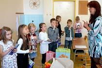 Děti ve třídě vlašimské ZŠ Vorlina.