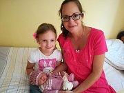 Magdalena Pohořalová se narodila 27. června ve 21.01, kdy měla 2380 gramů a 45 centimetrů. Rodiče Pavel Pohořal a Petra Hniličková se už těší, až dcerku představí její sestřičce Marušce (5) doma ve Skalici.