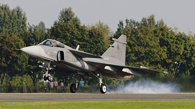 Saab JAS-39 Gripen české armády při startu.