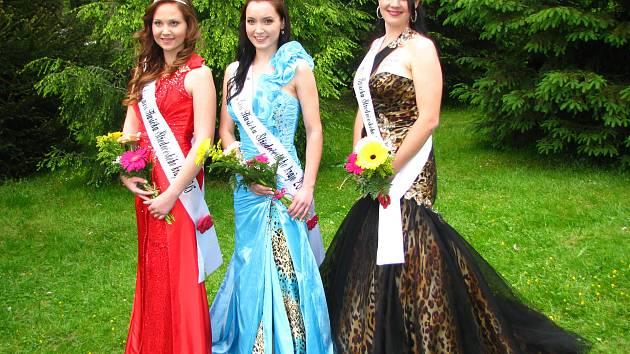Miss hasičkou Středočeského kraje se před dvěma lety stala Aneta Nouzovská z Kolínska (uprostřed), první vicemiss Eliška Budková z Příbramska (vlevo) a druhou Tereza Lhotková z Benešovska.