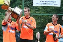Vítězná sestava Šacungu – (zleva) Jiří Holub, Jiří Doubrava a Petr Stejskal.