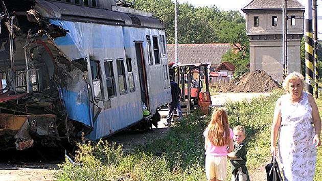 Vrak vlaku v Čerčanech