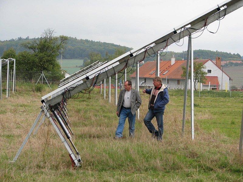 FV elektrárna Břežany 25. září 2008