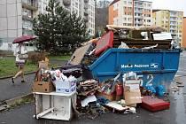 Nevyvezený odpad ilustrační foto
