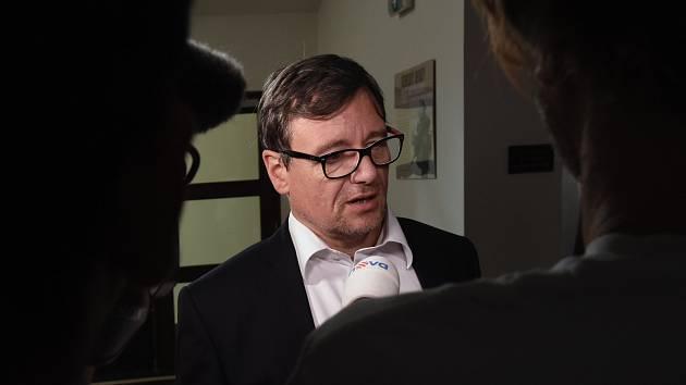 David Rath u Vrchního soudu v Praze.