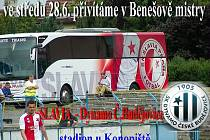 Slavia Praha odehraje přípravný zápas s Českými Budějovicemi v Benešově.