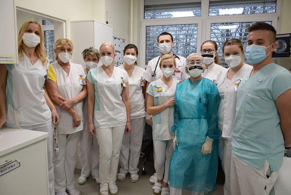Covidová oddělení chirurgie a interny v Nemocnici Rudolfa a Stefanie v Benešově.