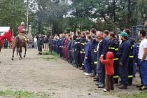Svatováclavský hasičský výstřik v Bílkovicích.