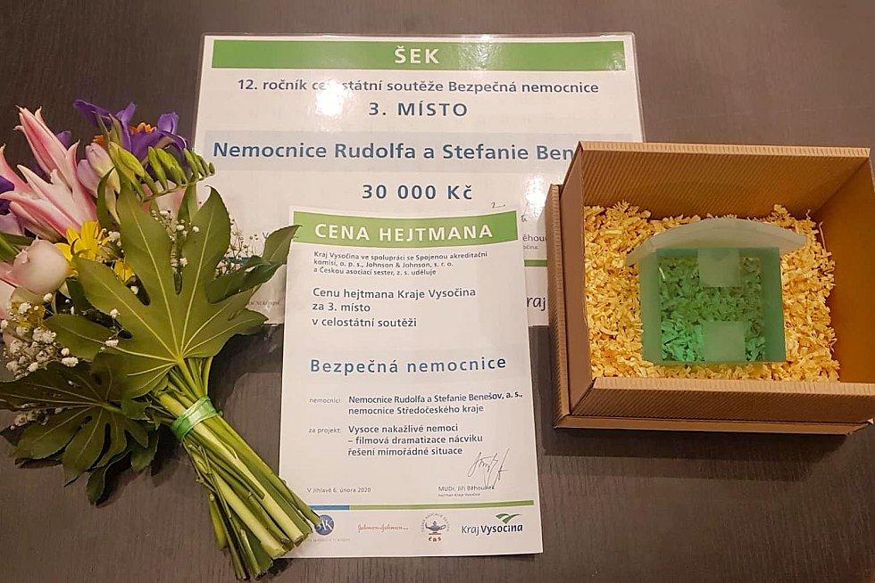 Z vyhlášení výsledků soutěže Bezpečná nemocnice v Jihlavě.