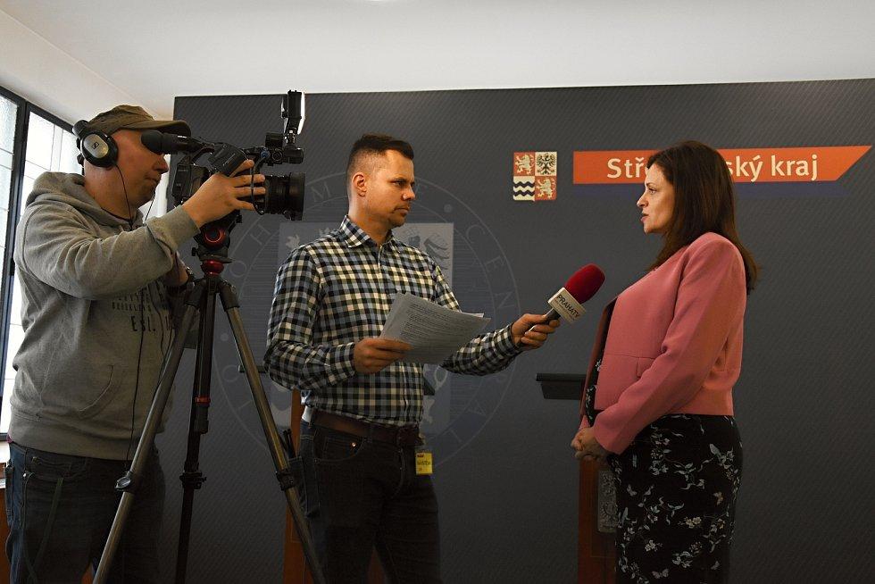 Z tiskové konference hejtmanky Středočeského kraje Jaroslavy Pokorné Jermanové v pondělí 11. února 2019.