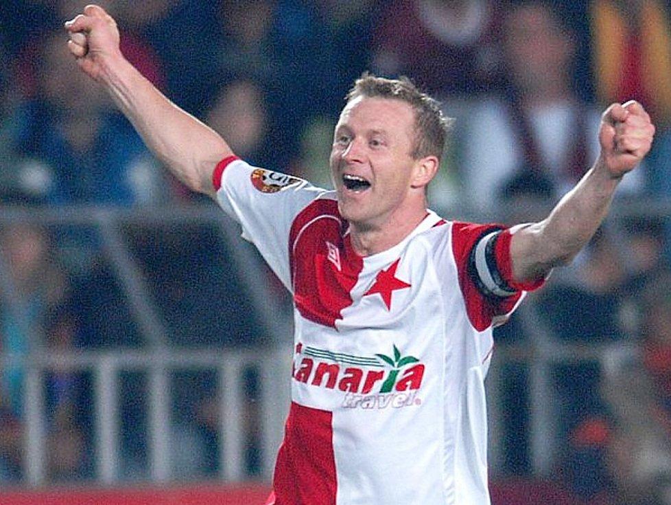 Stanislav Vlček v dobách své největší fotbalové slávy ve Slavii Praha.