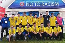 Vítězný tým U17 Benešov na turnaji Golden City v Praze.