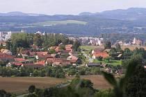Pohled na Vlašim z Kladrub