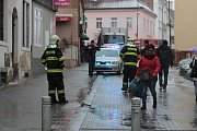 Havárie elektřiny v ulici F. V. Mareše v Benešově.