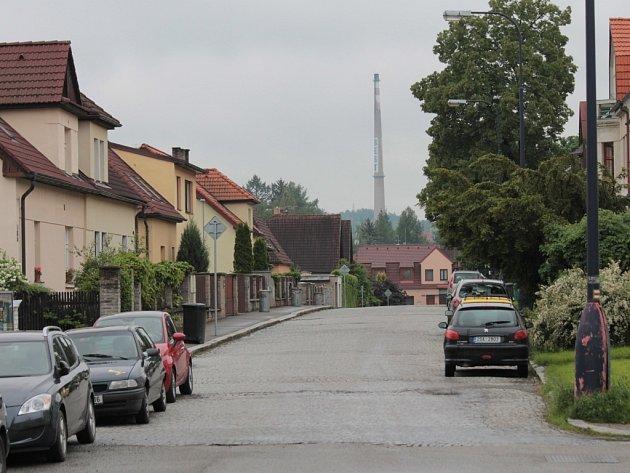 Komín v továrně Baest.