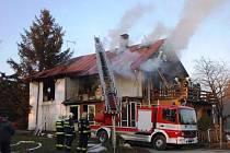Požár domu přišel první jarní den
