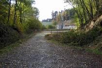 Zrušená železniční trať mezi Bystřicí a Olbramovicemi u Opřetic.