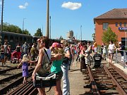 Oslavy 90. výročí zprovoznění tratě z Benešova do Vlašimi v říjnu 1985.