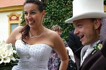 Eva Boušová a Jiří Goby si řekli ano v sobotu 18. června na Jemništi.
