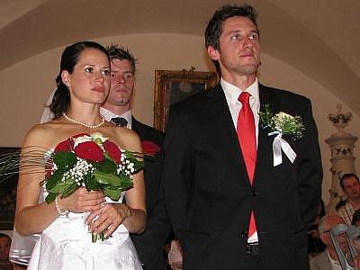 Veronika Sadecká z Kovářovic a Constantin Daciu z Rumunska.