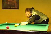 Největším favoritem z domácích účastníků mistrovství byl Jan Aleš (na snímku), který však podlehl jinému Kladeňákovi Marku Vášovi.
