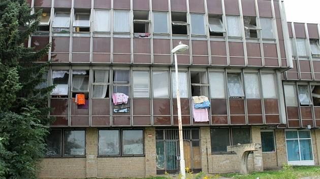 Zrušená ubytovna v Americké ulici v Kladně.