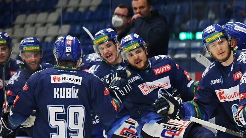 Adam Kubík slaví branku Kladna, bohužel to nakonec nestačilo // Rytíři Kladno - HC Dukla Jihlava 1:2, Finále play off Chance ligy, 25. 4. 2021