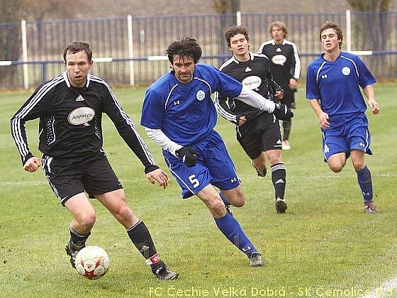 FC Čechie Velká Dobrá - SK Černolice 0:3, I.A, tř. sk. A, StČ kraj, 1.11.2009
