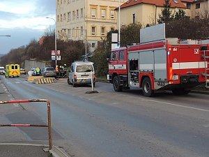 Nehoda v ulici Pod Zámkem v Kladně