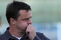 Jaroslav Peřina vydýchává druhou branku v síti Kladna // SK Kladno - FC Vysočina Jihlava  1:2(0:1) , utkání 24.k. 2. ligy 2010/11, hráno 1.5.2011