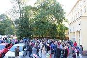 Děti si užily první školní den také v Kladně.