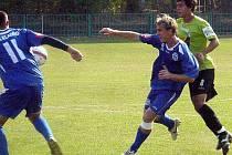 Druhý gól Kladna vstřelil Hlava, který zakládá další útok svého týmu.