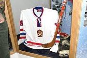 Josef Hošek otevřel v Lánech nové prostory ve své Hokejové síni slávy.