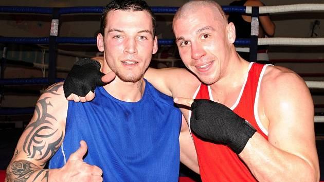 Petr Jirotka (vpravo) byl po svém sobotním vystoupení v Rakovníku spokojený.